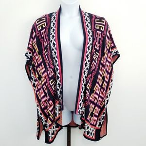 Crown & Ivy One Size Poncho Sweater Cardigan